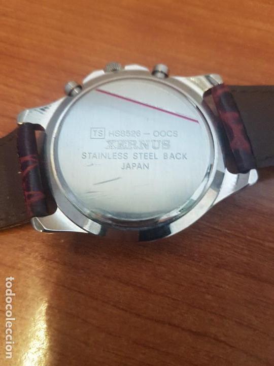 Relojes: Reloj caballero Xernus acero cronografo, bisel giratorio, calendario a las tres, correa cuero nueva - Foto 11 - 133161038