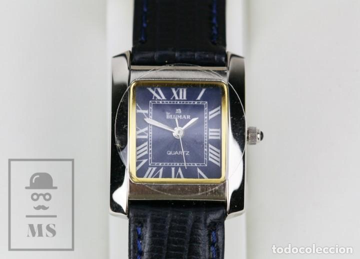 Relojes: Reloj de Pulsera para Mujer - Blumar / Quartz / Cuarzo - Correa Azul Marino - Con Caja - Foto 4 - 133285882