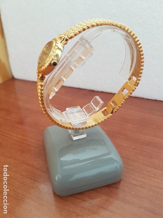 Relojes: Reloj señora (Vintage) ORIENT chapado de oro de cuarzo esfera color oro, correa de acero chapado oro - Foto 5 - 133384862