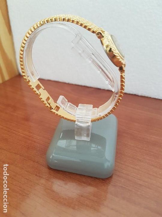 Relojes: Reloj señora (Vintage) ORIENT chapado de oro de cuarzo esfera color oro, correa de acero chapado oro - Foto 7 - 133384862