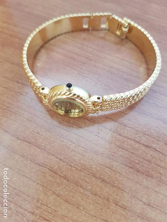 Relojes: Reloj señora (Vintage) ORIENT chapado de oro de cuarzo esfera color oro, correa de acero chapado oro - Foto 8 - 133384862