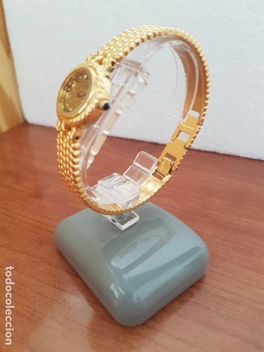 Relojes: Reloj señora (Vintage) ORIENT chapado de oro de cuarzo esfera color oro, correa de acero chapado oro - Foto 9 - 133384862