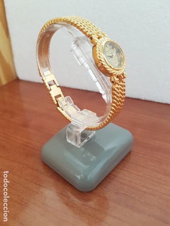 Relojes: Reloj señora (Vintage) ORIENT chapado de oro de cuarzo esfera color oro, correa de acero chapado oro - Foto 10 - 133384862