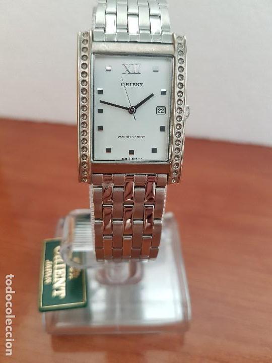 e44f6ca8489b Reloj señora ORIENT de cuarzo en acero con calendario a las tres horas