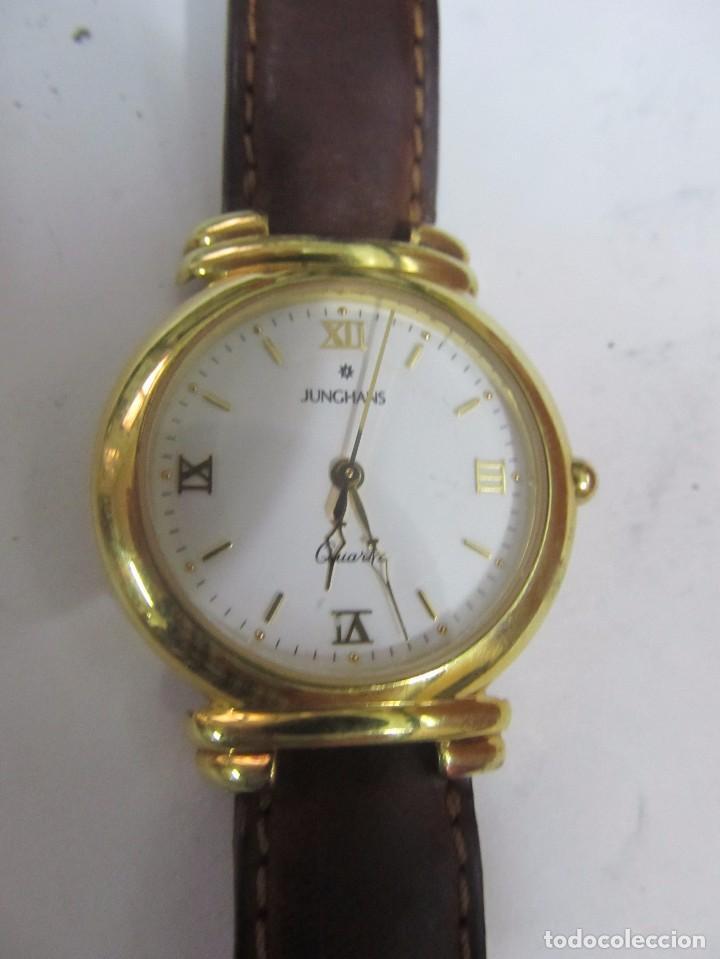 RELOJ JUNGHANS DE CUARZO CHAPADO EN ORO (Relojes - Relojes Actuales - Otros)