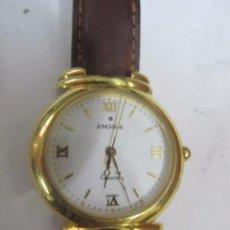 Relojes: RELOJ JUNGHANS DE CUARZO CHAPADO EN ORO. Lote 133650154