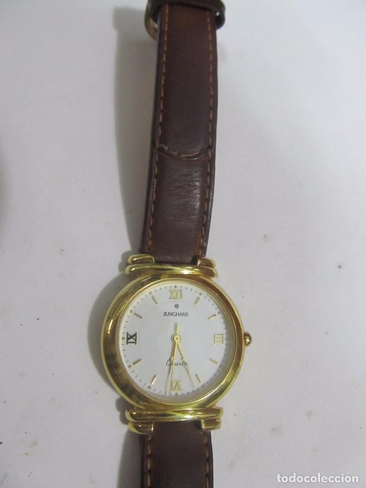 Relojes: RELOJ JUNGHANS DE CUARZO CHAPADO EN ORO - Foto 2 - 133650154