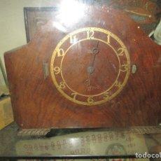 Relojes: ANTIGUO RELOJ DE SOBREMESA MADERA MARCA SMITH INGLATERRA ART DECO ELECTRICO SONERIA. Lote 133994898