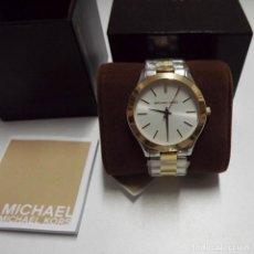 Relojes: RELOJ ORIGINAL MICHAEL KORS MK-3198 NUEVO CON CAJA, LIBRILLO Y ETIQUETA. Lote 135135342