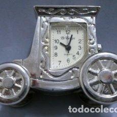 Relojes: REJOJ COCHE EN MINIATURA EN METAL PLATEADO - MINIATURA-02. Lote 135212586