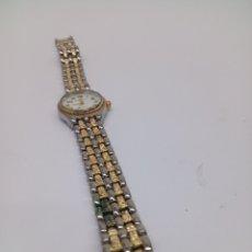 Relojes: RELOJ GENEVA QUARTZ DE MUJER BAÑADO ORO. Lote 135397251