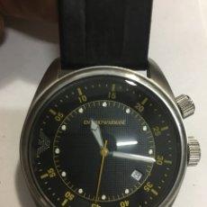 Relojes: RELOJ EMPORIO ARMANI AR0516 MEN ROUND STEEL CON SU CAJA. Lote 136707352