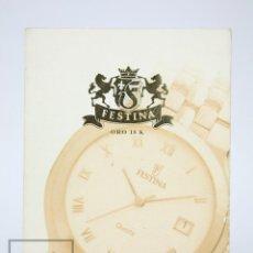 Relojes: CATÁLOGO DE RELOJES DE PULSERA - FESTINA. ORO 18K - AÑOS 90. Lote 136779498