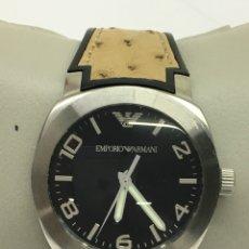 Relojes: RELOJ EMPORIO ARMANI EN ACERO QUARTZ Y CORREA ESPECIAL PIEL COMO NUEVO. Lote 137543774