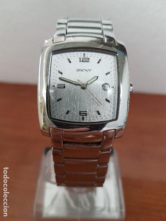 9eebb419886e Relojes  Reloj caballero DKNY cuarzo de acero con correa de acero solida