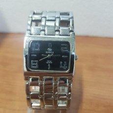 Relojes: RELOJ SEÑORA MAREA CUARZO DE ACERO CON ESFERA NEGRA CORREA DE ACERO ORIGINAL, RELOJ DE STOCK TIENDA. Lote 138775614