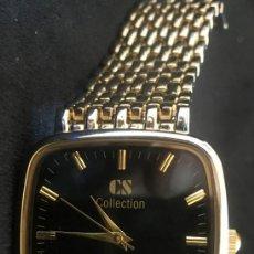Relojes: ELEGANTE RELOJ DE QUARZO CS COLLECTIÓN, CON CADENA DE ACERO DORADA. Lote 139168110