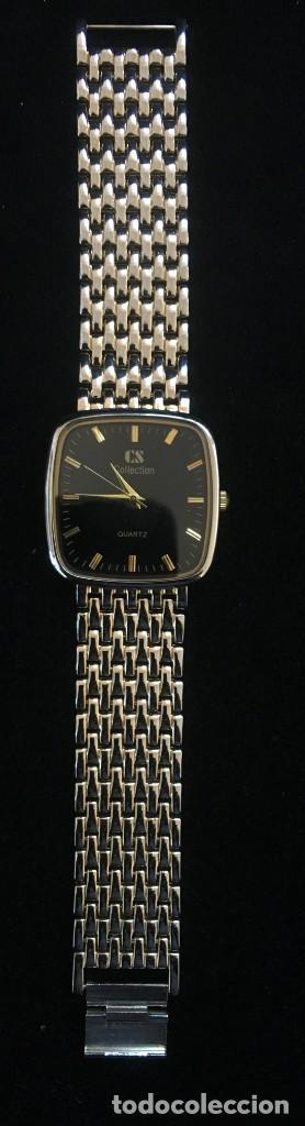 Relojes: ELEGANTE RELOJ DE QUARZO CS COLLECTIÓN, CON CADENA DE ACERO DORADA - Foto 2 - 139168110
