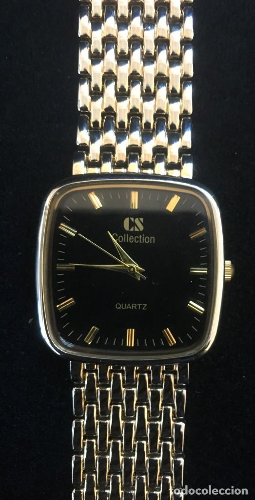 Relojes: ELEGANTE RELOJ DE QUARZO CS COLLECTIÓN, CON CADENA DE ACERO DORADA - Foto 3 - 139168110