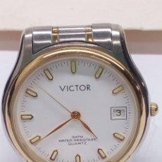 Relojes: RELOJ VICTOR QUARTZ CADENA ACERO. Lote 139294790