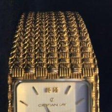 Relojes: FANTASTICO RELOJ DE CUARZO DE LA MARCA CL CRISTIAN LAY, MUY BUEN ESTADO, NO PROBADO. Lote 139322238
