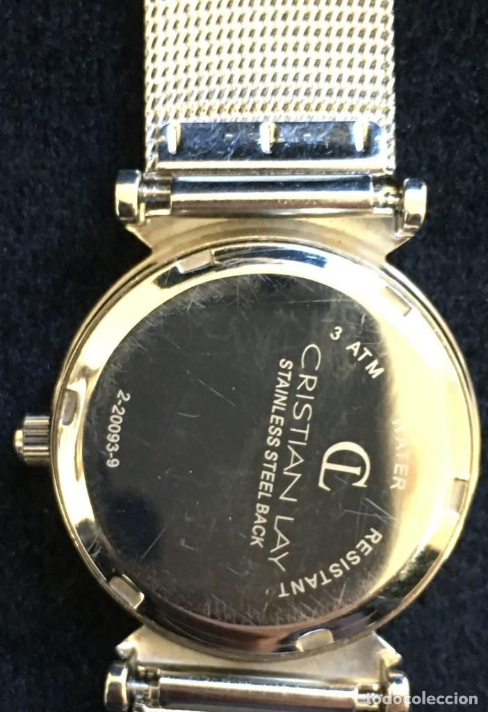 Relojes: FANTASTICO RELOJ DE CUARZO DE LA MARCA CL CRISTIAN LAY, MUY BUEN ESTADO, NO PROBADO - Foto 5 - 139322690