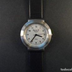 Relojes: RELOJ CORREA CUERO NEGRO ACERO. SELECT. SPAIN. WATER RESISTANT. QUARTZ. SIGLO XXI. Lote 139567494