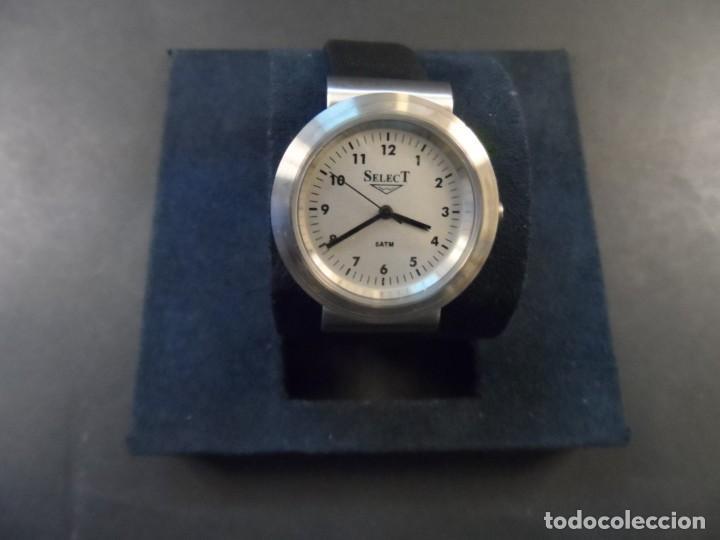 Relojes: RELOJ CORREA CUERO NEGRO ACERO. SELECT. SPAIN. WATER RESISTANT. QUARTZ. SIGLO XXI - Foto 5 - 139567494