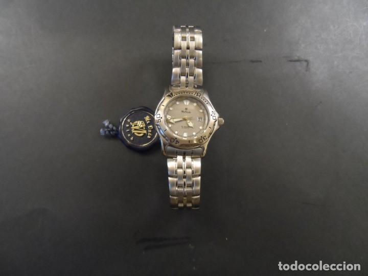 Relojes: RELOJ SEÑORA ARMIS ACERO GRIS. MX ONDA. BISEL Y CALENDARIO. QUARTZ. SIGLO XX - Foto 2 - 139688674