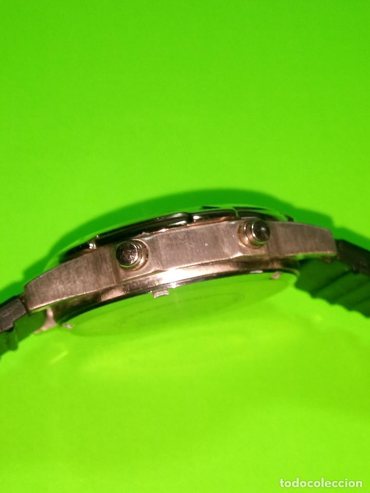 Relojes: RELOJ VINSENT. MULTIF. DIAL GIRATORIO. BATERIA. FUNCIONANDO. ACERO. 41 MM. S/C. INFO EN DESCRIPCION - Foto 2 - 139933314