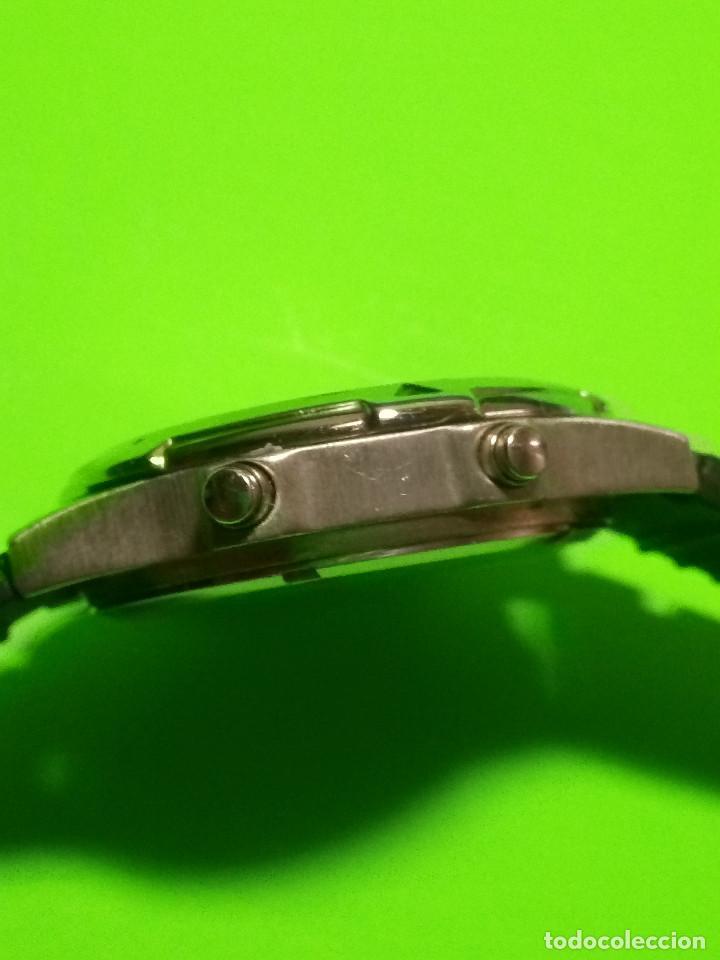 Relojes: RELOJ VINSENT. MULTIF. DIAL GIRATORIO. BATERIA. FUNCIONANDO. ACERO. 41 MM. S/C. INFO EN DESCRIPCION - Foto 3 - 139933314