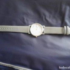 Relojes: RELOJ DE ACERO. CORREA SIMIL PIEL. Lote 140042954