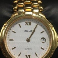 Relojes: RELOJ JAGUAR CHAPADO ORO EN ACERO COMPLETO MAQUINARIA SWISS MADE MODELO J915 PIEDRA ZAFIRO EN CORONA. Lote 140106324
