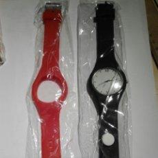 Relojes: RELOJ A PILA DE ESFERA INTERCAMBIABLES CON DOS CORREAS. Lote 140527810