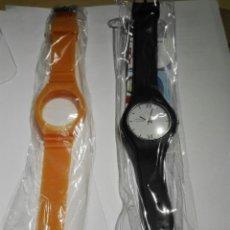 Relojes: RELOJ A PILA DE ESFERA INTERCAMBIABLES CON DOS CORREAS. Lote 140527884