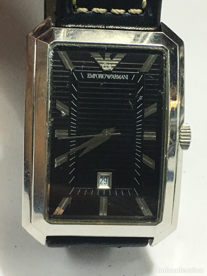 RELOJ EMPORIO ARMANI RECTANGULAR ESFERA NEGRA (Relojes - Relojes Actuales - Otros)