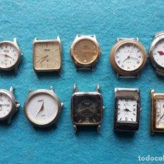 Relojes: LOTE DE 10 RELOJES DE CUARZO PARA DAMA. Lote 141301562