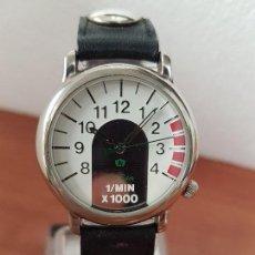 Relojes: RELOJ CABALLERO CUARZO MARCA FREE RIDER ACERO CON ESFERA BLANCA, CORREA DE CUERO, RELOJ DE STOCK . Lote 141553194
