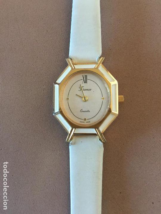 Relojes: RELOJ PULSERA MARCA FIRENZE (SUIZA) CUARZO CORREA ESTILO PIEL VINTAGE SIN CAJA - Foto 2 - 142712142