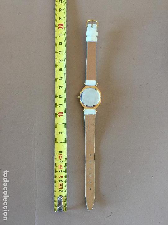 Relojes: RELOJ PULSERA MARCA FIRENZE (SUIZA) CUARZO CORREA ESTILO PIEL VINTAGE SIN CAJA - Foto 5 - 142712142