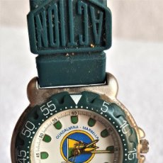 Relojes: RELOJ SPORT QUARTZ GUADALMINA MARVELLA - 22.CM LARGO - ESFERA 2.5.CM DIAMETRO - METAL Y BANDA GOMA. Lote 142963386