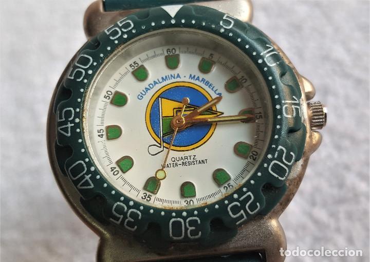 Relojes: RELOJ SPORT QUARTZ GUADALMINA MARVELLA - 22.CM LARGO - ESFERA 2.5.CM DIAMETRO - METAL Y BANDA GOMA - Foto 3 - 142963386