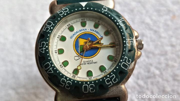 Relojes: RELOJ SPORT QUARTZ GUADALMINA MARVELLA - 22.CM LARGO - ESFERA 2.5.CM DIAMETRO - METAL Y BANDA GOMA - Foto 4 - 142963386