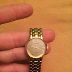 Relojes: ANTIGUO RELOJ PULSERA A PILAS PARA SEÑORA CON CORREA Y CIERRE MARCA PULSAR CHAPADO ORO AÑOS 70-80. Lote 143106546