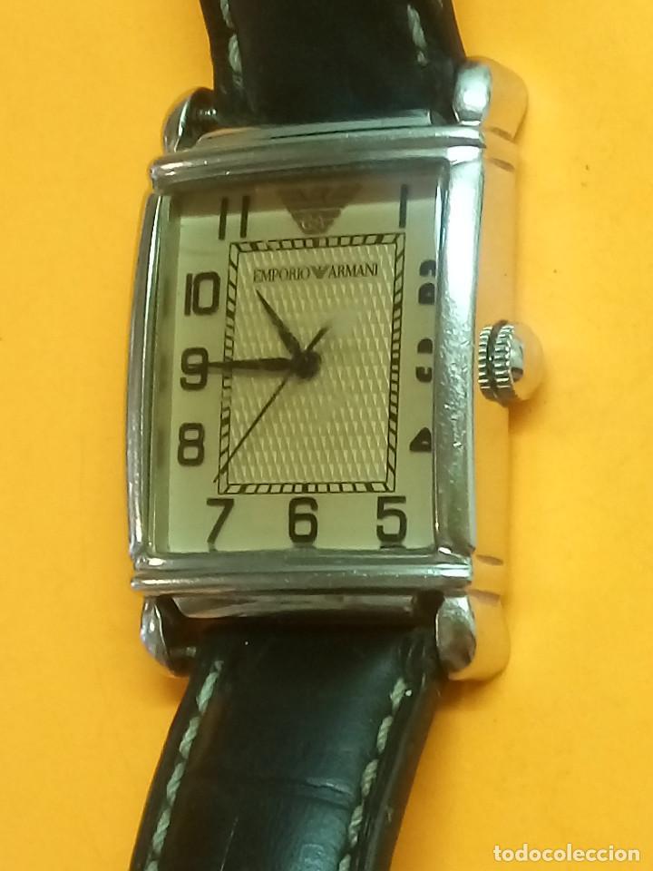 Relojes: EMPORIO ARMANI - ANTIGUO (BATERIA NUEVA). FUNCIONANDO. ACERO.. ESEFRA TEXTU. INFO EN DESCRI - Foto 3 - 143132482