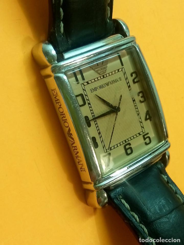 Relojes: EMPORIO ARMANI - ANTIGUO (BATERIA NUEVA). FUNCIONANDO. ACERO.. ESEFRA TEXTU. INFO EN DESCRI - Foto 4 - 143132482