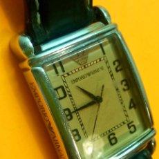 Relojes: EMPORIO ARMANI - ANTIGUO (BATERIA NUEVA). FUNCIONANDO. ACERO.. ESEFRA TEXTU. INFO EN DESCRI. Lote 143132482