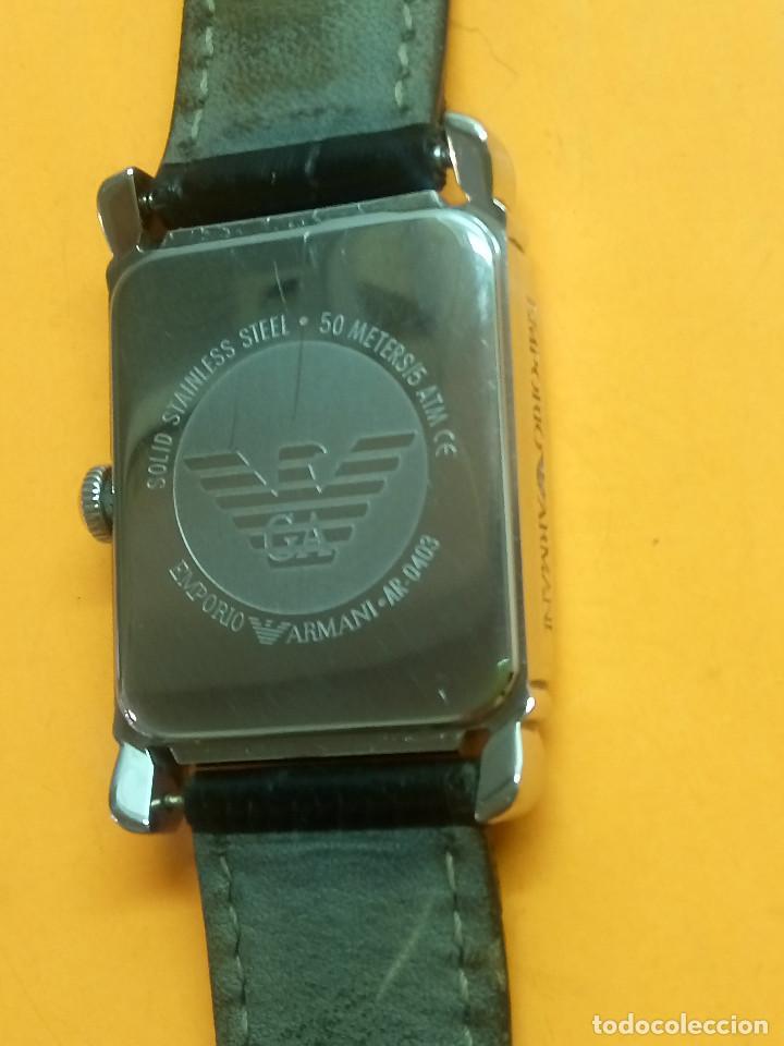 Relojes: EMPORIO ARMANI - ANTIGUO (BATERIA NUEVA). FUNCIONANDO. ACERO.. ESEFRA TEXTU. INFO EN DESCRI - Foto 5 - 143132482