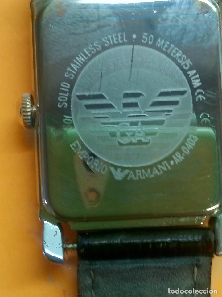 Relojes: EMPORIO ARMANI - ANTIGUO (BATERIA NUEVA). FUNCIONANDO. ACERO.. ESEFRA TEXTU. INFO EN DESCRI - Foto 6 - 143132482