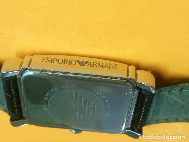 Relojes: EMPORIO ARMANI - ANTIGUO (BATERIA NUEVA). FUNCIONANDO. ACERO.. ESEFRA TEXTU. INFO EN DESCRI - Foto 7 - 143132482